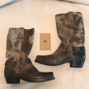 Brand new distressed women's Frye boots